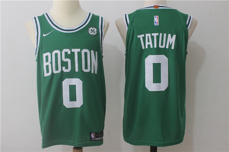 Men's Nike Boston Celtics #0 Jayson Tatum Green Stitched NBA Jersey