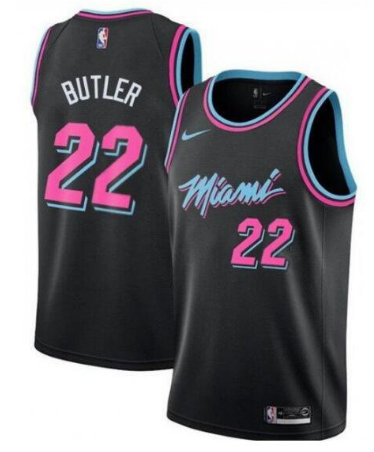 Men's Miami Heat #22 Jimmy Butler Black Stitched NBA Jersey