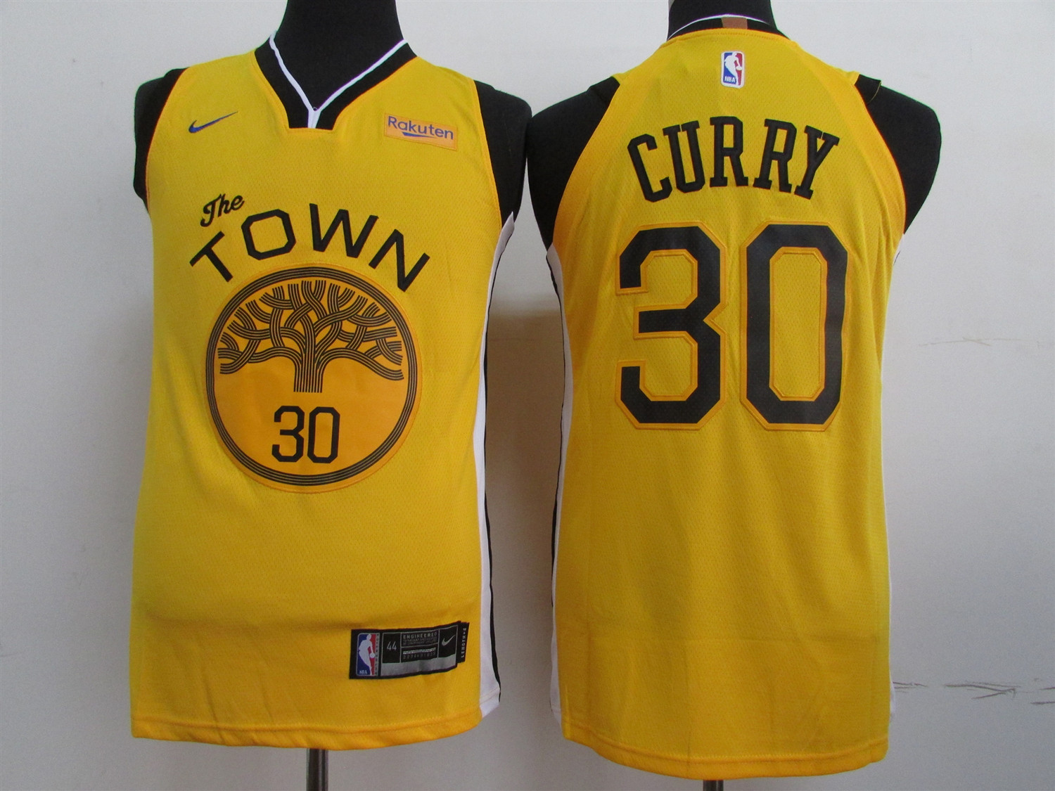 Men's Golden State Warriors #30 Stephen Curry Yellow 2019 Earned Edition Swingman Stitched NBA Jersey