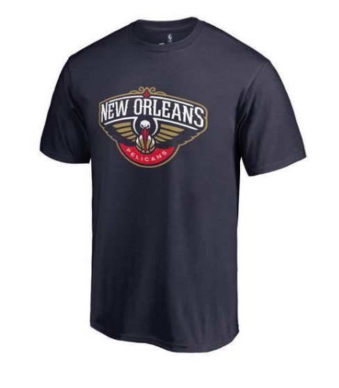 Men's New Orleans Pelicans 2019 Navy NBA T-Shirt