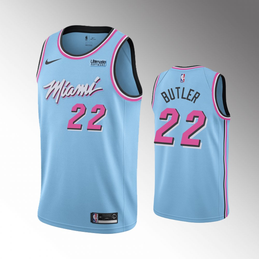 Men's Miami Heat #22 Jimmy Butler Blue Stitched NBA Jersey