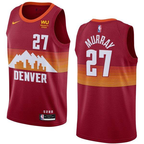 Men's Denver Nuggets #27 Jamal Murray Red 2020-21 City Edition Stitched NBA Jersey