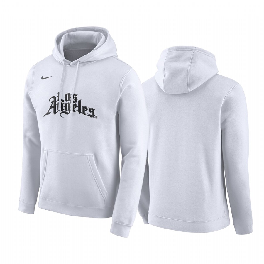 Men's Los Angeles Clippers White Hoodie