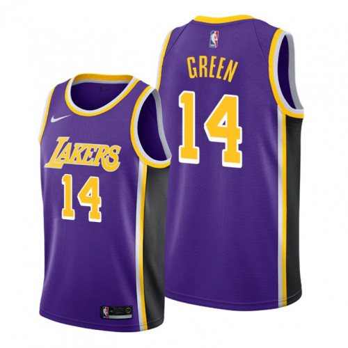 Men's Los Angeles Lakers #14 Danny Green Purple Stitched NBA Jersey