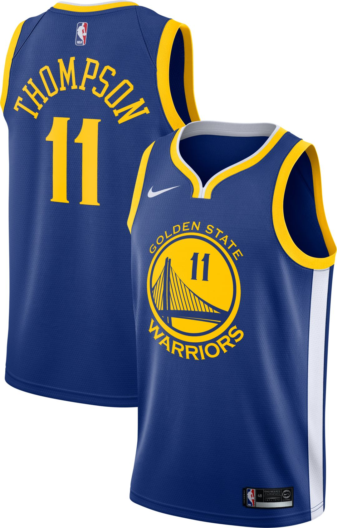 Men's Golden State Warriors #11 Klay Thompson Royal 2019 All Star Stitched NBA Jersey