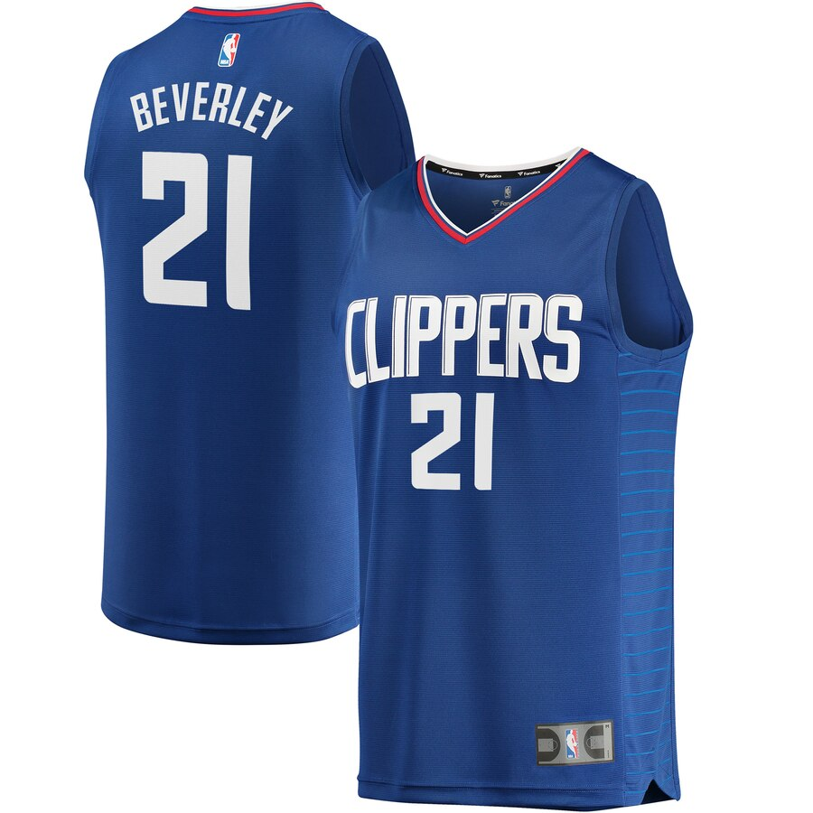 Men's Clippers #21 Patrick Beverley Blue Stitched NBA Jersey