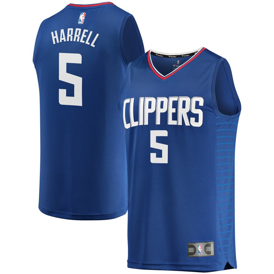 Men's Clippers #5 Montrezl Harrell Royal Stitched NBA Jersey