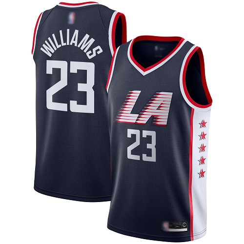 Men's Los Angeles Clippers #23 Louis Williams Black Stitched NBA Jersey