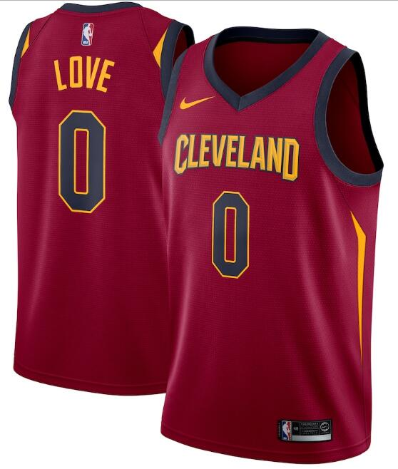 Men's Cleveland Cavaliers Red #0 Kevin Love Icon Edition Swingman Stitched NBA Jersey