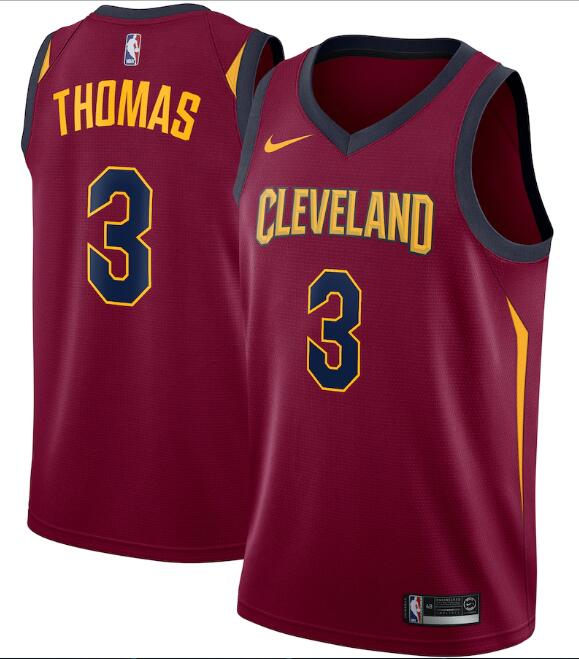 Men's Cleveland Cavaliers Red #3 Isaiah Thomas Icon Edition Swingman Stitched NBA Jersey
