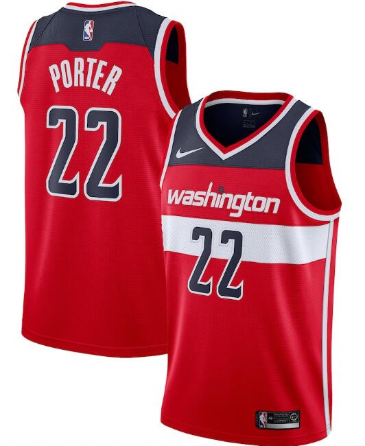 Men's Washington Wizards Red #22 Otto Porter Icon Edition Stitched NBA Jersey