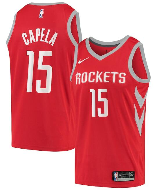 Men's Houston Rockets Red #15 Clint Capela Icon Edition Stitched NBA Jersey