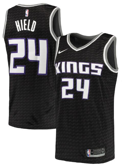Men's Sacramento Kings Black #24 Buddy Hield Statement Editon Stitched NBA Jersey