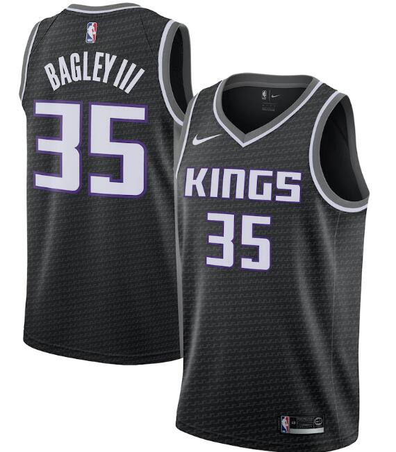 Men's Sacramento Kings Black #35 Marvin Bagley III Statement Editon Stitched NBA Jersey