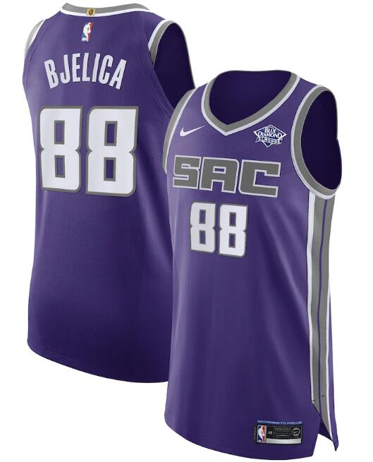 Men's Sacramento Kings Purple #88 Nemanja Bjelica Icon Editon Stitched NBA Jersey