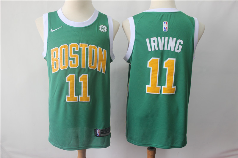 Men's Boston Celtics #11 Kyrie Irving Green 2018/19 Earned Edition Swingman Stitched NBA Jersey