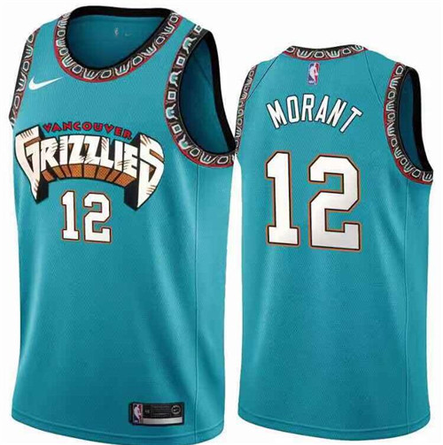 Men's Memphis Grizzlies #12 Ja Morant Blue Stitched NBA Jersey