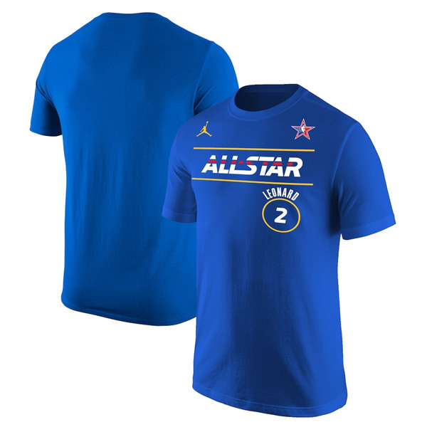 Men's 2021 All-Star #2 Kawhi Leonard Blue Royal T-Shirt
