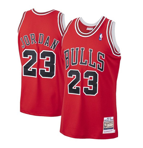 Men's Chicago Bulls #23 Michael Jordan Red Stitched NBA Jersey