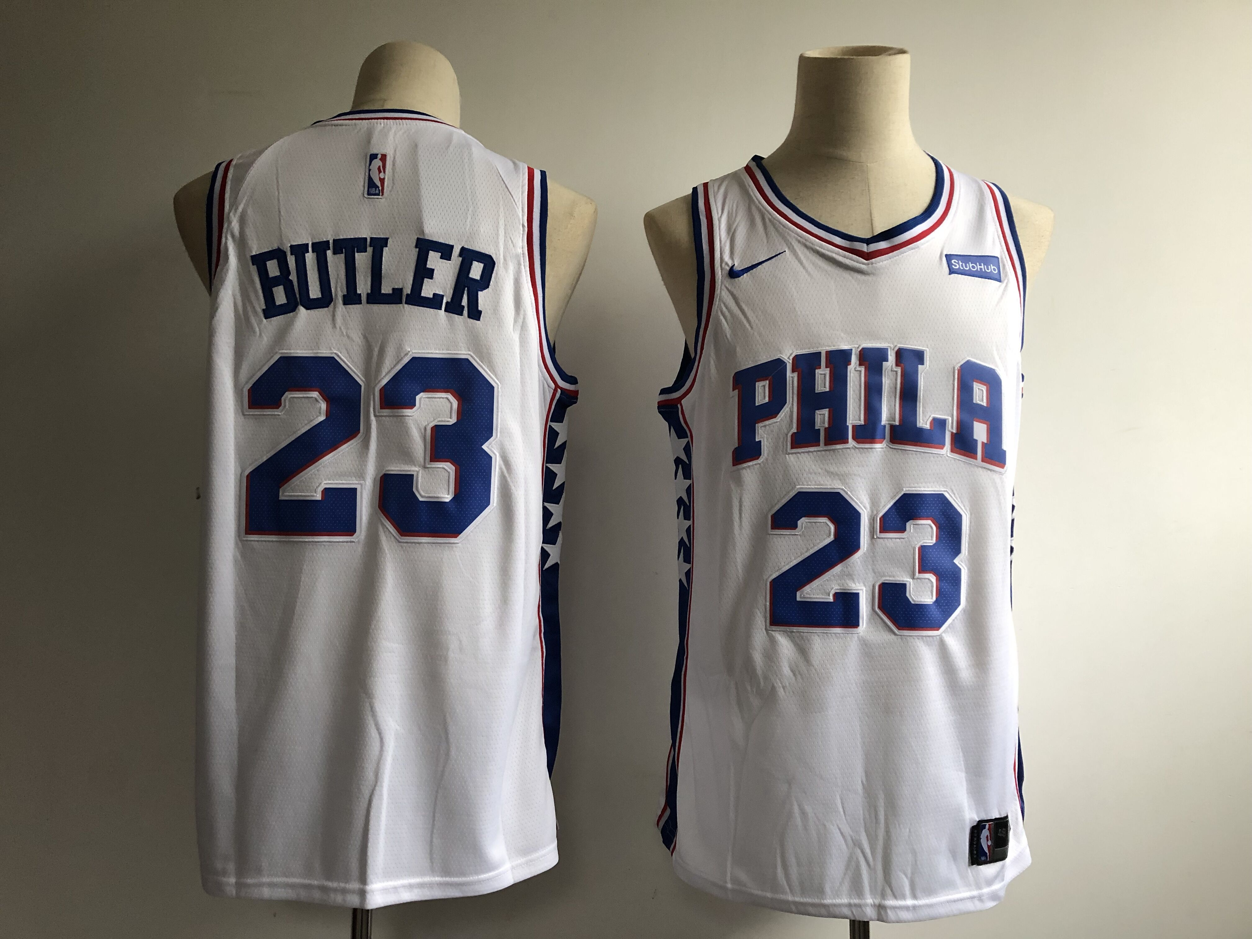 Men's Philadelphia 76ers #23 Jimmy Butler White Icon Edition Swingman Stitched NBA Jersey