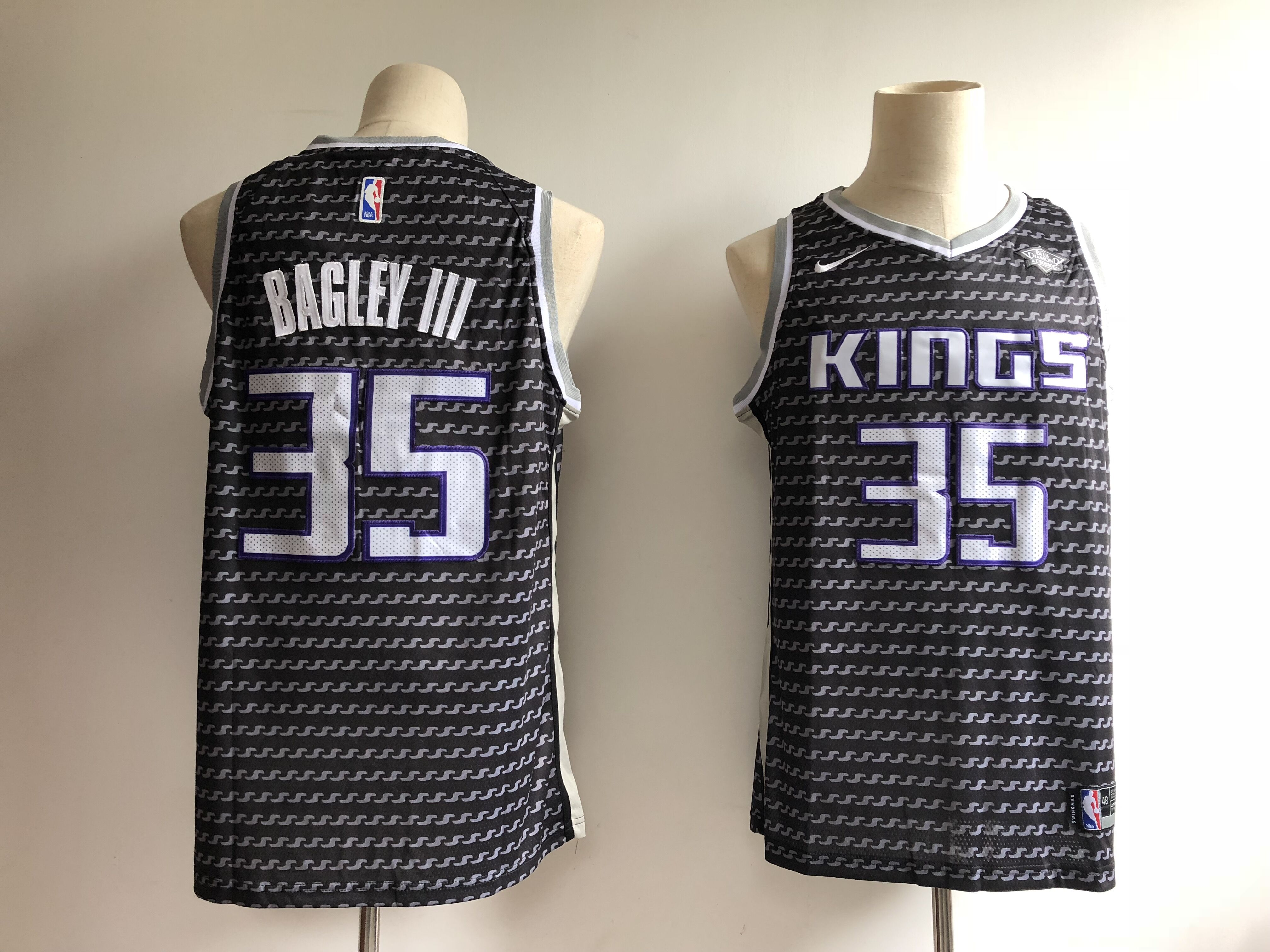Men's Sacramento Kings #35 Marvin Bagley III Black City Edition Swingman Stitched NBA Jersey