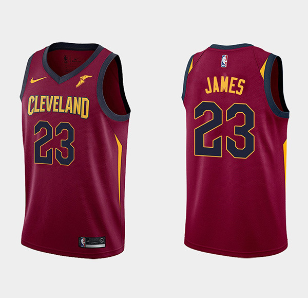 Men's Nike Cleveland Cavaliers #23 LeBron James Wine Red Stitched NBA Jersey
