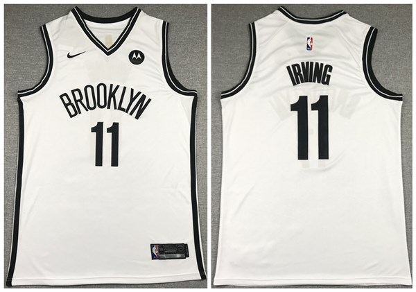 Men's Brooklyn Nets #11 Kyrie Irving 2020 White Stitched NBA Jersey