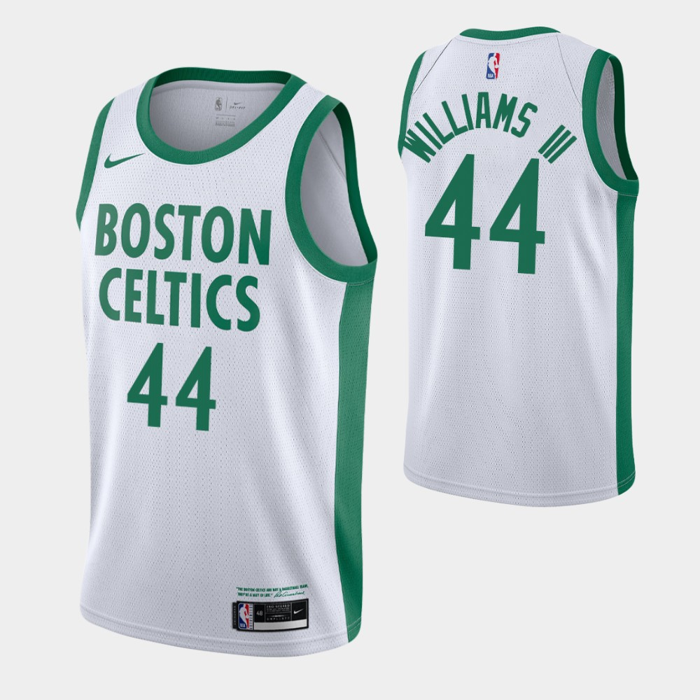 Men's Boston Celtics #44 Robert Williams III White 2020-21 City Edition Swingman Stitched NBA Jersey