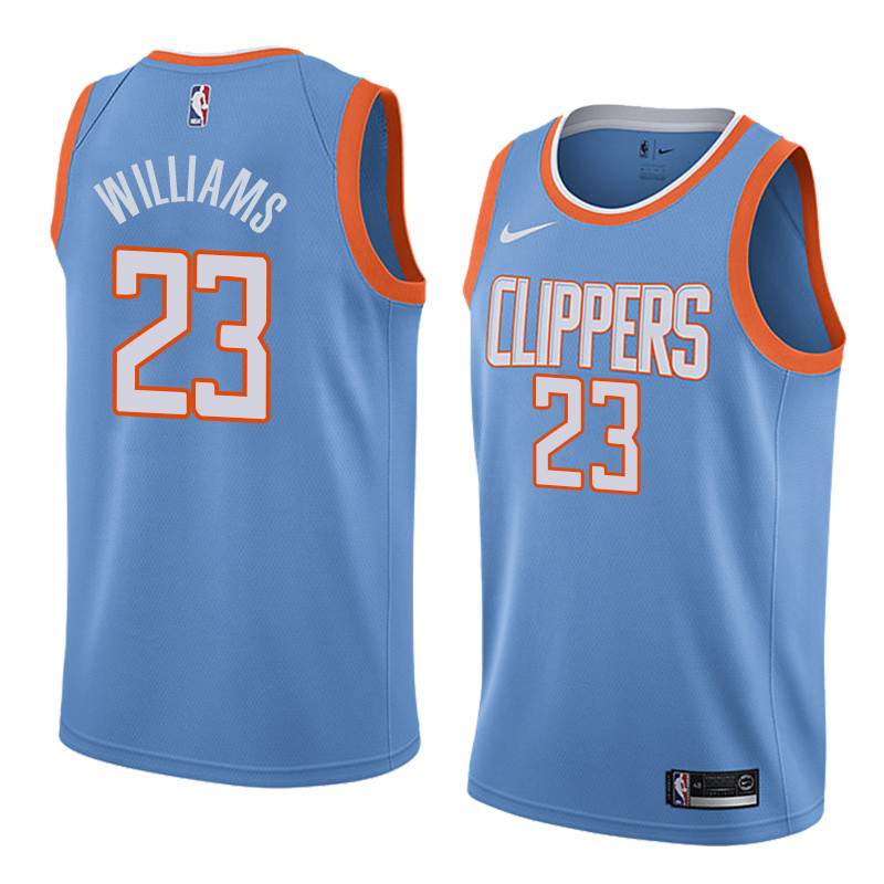 Men's Los Angeles Clippers #23 Lou Williams Blue 2017 18 New Season City Edition Stitched NBA Jersey