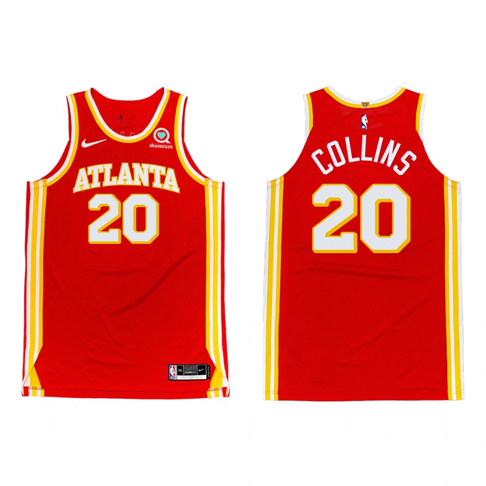 Men's Atlanta Hawks #20 John Collins 2020-21 Red Stitched NBA Jersey