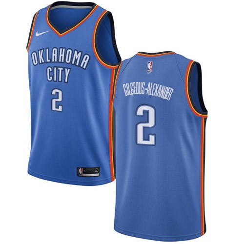 Men's Oklahoma City Thunder Blue #2 Shai Gilgeous-Alexander Stitched NBA Jersey