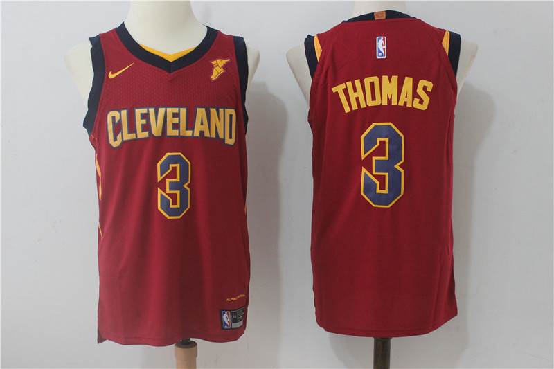 Men's Nike Cleveland Cavaliers #3 Isaiah Thomas Wine Red Stitched NBA Jersey