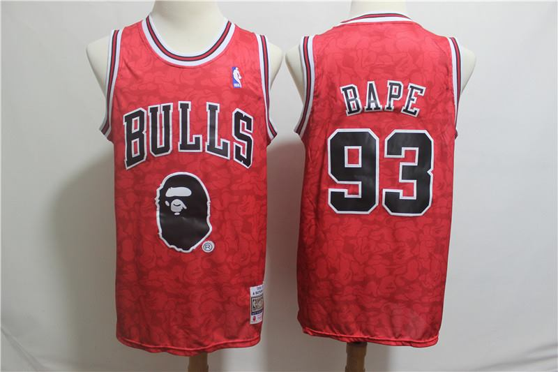 Men's Nike Chicago Bulls #93 1996-97 A Bathing Ape Bulls Stitched NBA Jersey