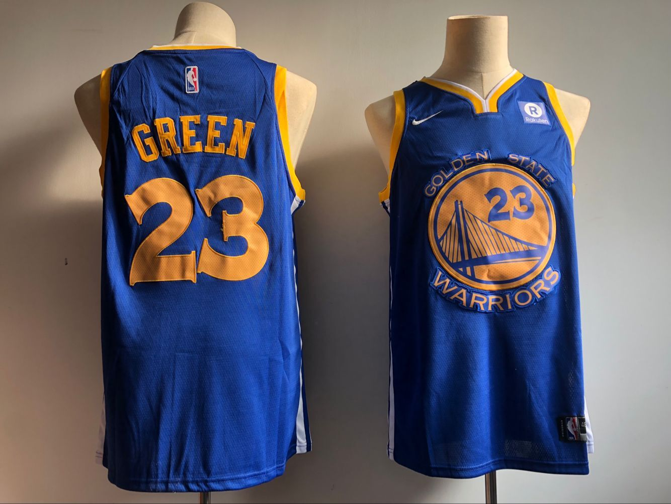 594b4652d92 Men s Golden State Warriors  23 Draymond Green Blue Icon Edition Swingman  Stitched NBA Jersey