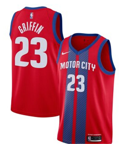 Men's Detroit Pistons #23 Blake Griffin Red 2019 City Edition Stitched NBA Jersey