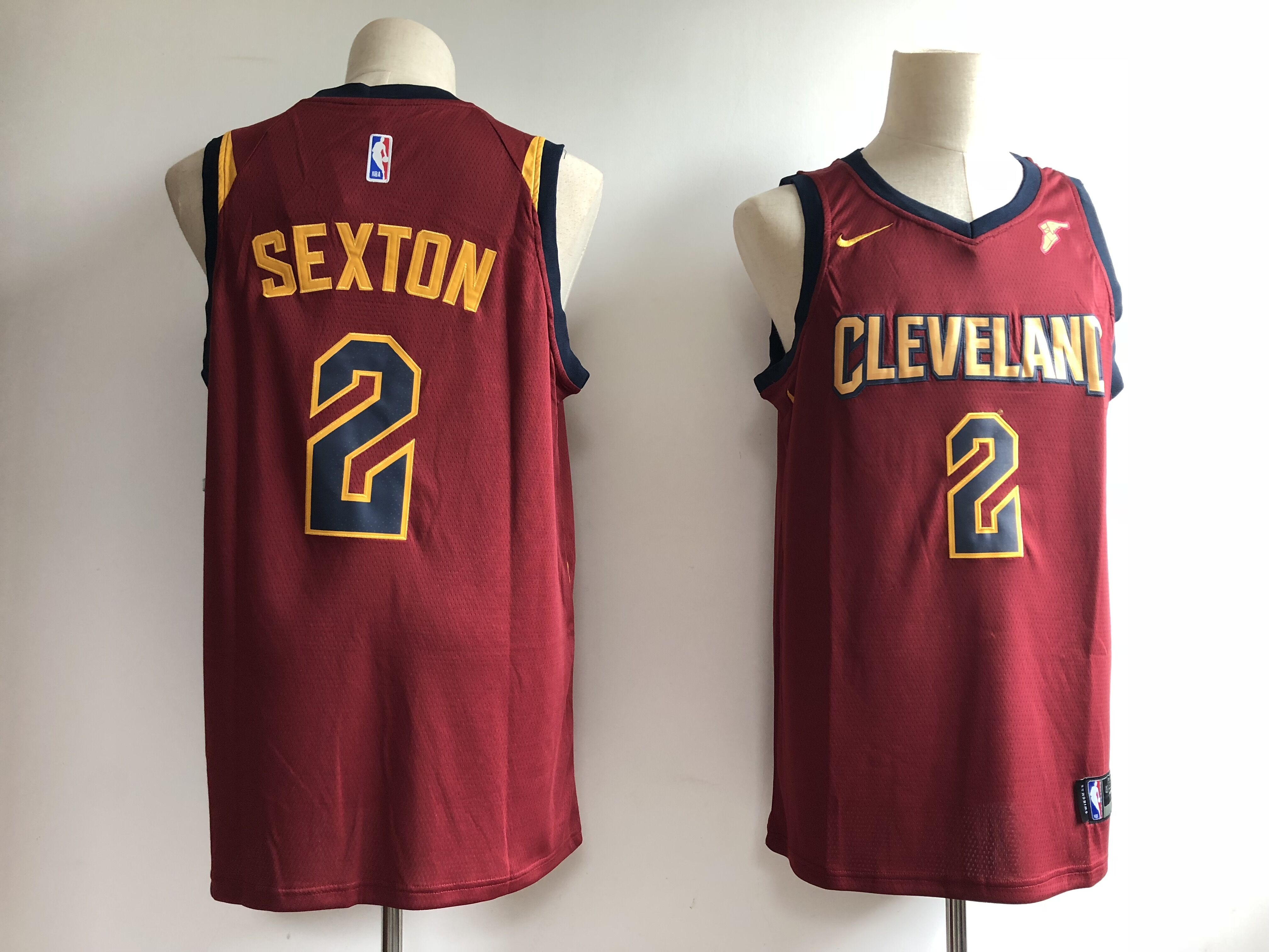 Men's Cleveland Cavaliers #2 Collin Sexton Red Swingman Stitched NBA Jersey