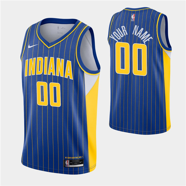 Men's Indiana Pacers Active Players Custom Royal City Swingman 2020-21 Stitched NBA Jersey