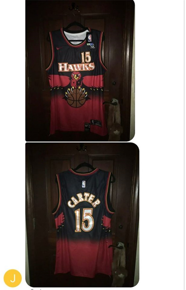 Men's Atlanta Hawks #15 Vince Carter Stitched NBA Jersey