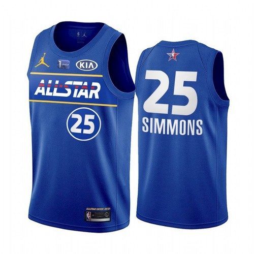 Men's 2021 All-Star #25 Ben Simmons Blue Eastern Conference Stitched NBA Jersey