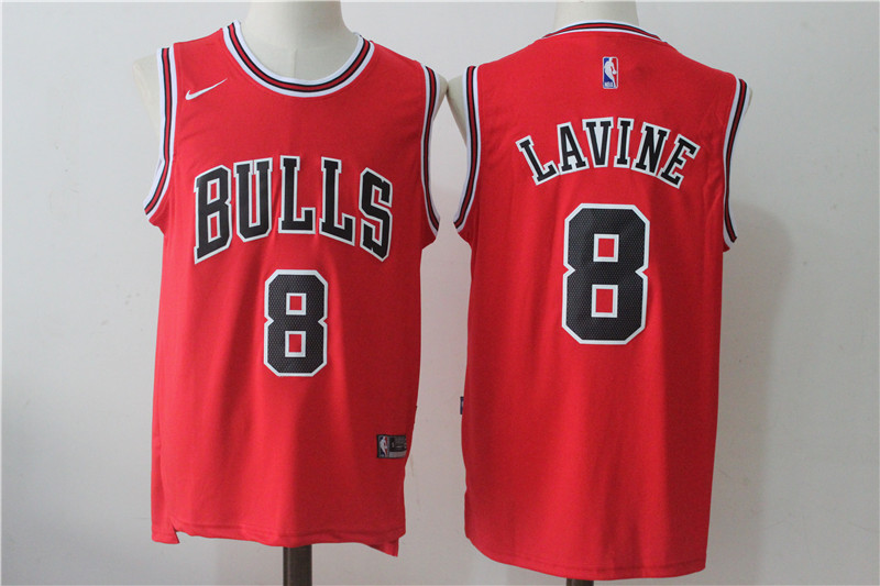 Men's Chicago Bulls #8 Zach LaVine Red Nike Road Stitched NBA Jersey