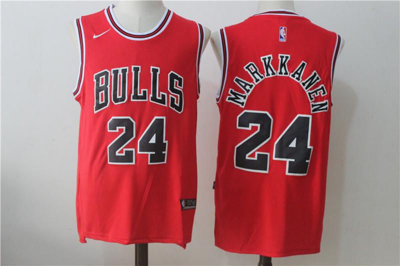 Men's Nike Chicago Bulls #24 Lauri Markkanen Red Stitched NBA Jersey