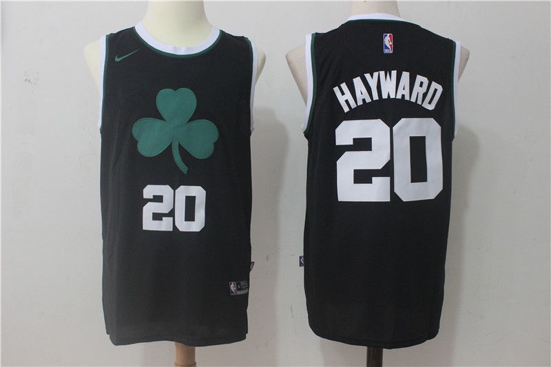Men's Nike Boston Celtics #20 Gordon Hayward Black Stitched NBA Jersey
