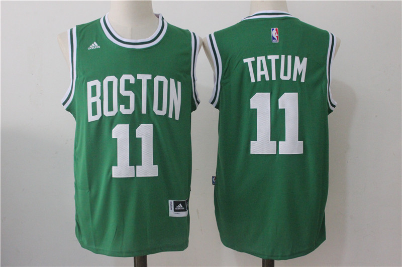 Men's Boston Celtics #11 Jayson Tatum Green Stitched NBA Jersey