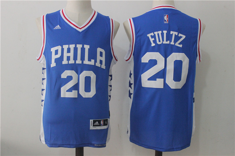 Men's Philadelphia 76ers #20 Fultz Blue Stitched NBA Jersey