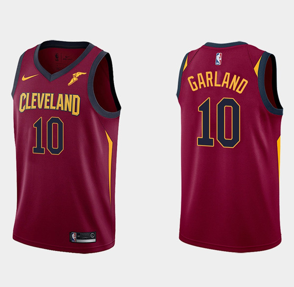 Men's Cleveland Cavaliers Red #10 Darius Garland Icon Edition Swingman Stitched NBA Jersey