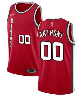 Men's Portland Trail Blazers #00 Carmelo Anthony Red 2019 Classic Edition Stitched NBA Jersey