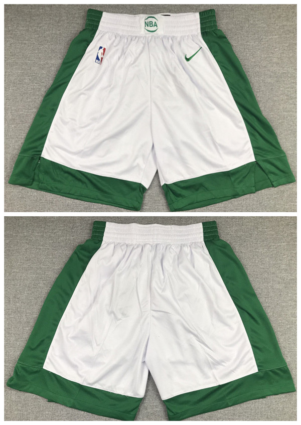 Men's Boston Celtics White Shorts (Run Small)