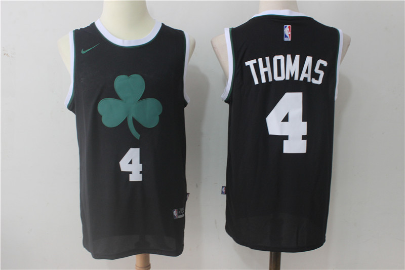 Men's Nike Boston Celtics #4 Isaiah Thomas All Black Stitched NBA Jersey