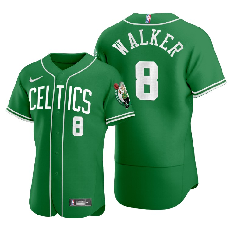 Men's Boston Celtics #8 Kemba Walker Green 2020 NBA X MLB Crossover Edition Jersey