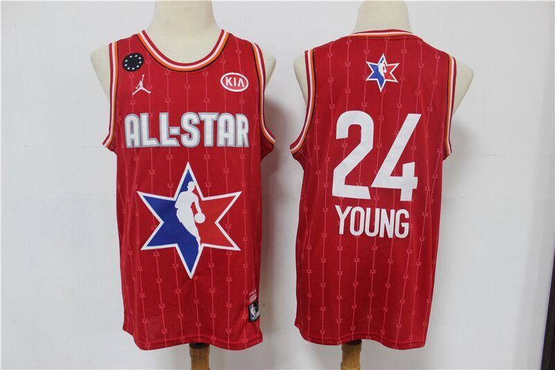 Men's Atlanta Hawks #24 Trae Young Red 2020 All-Star Stitched NBA Jersey